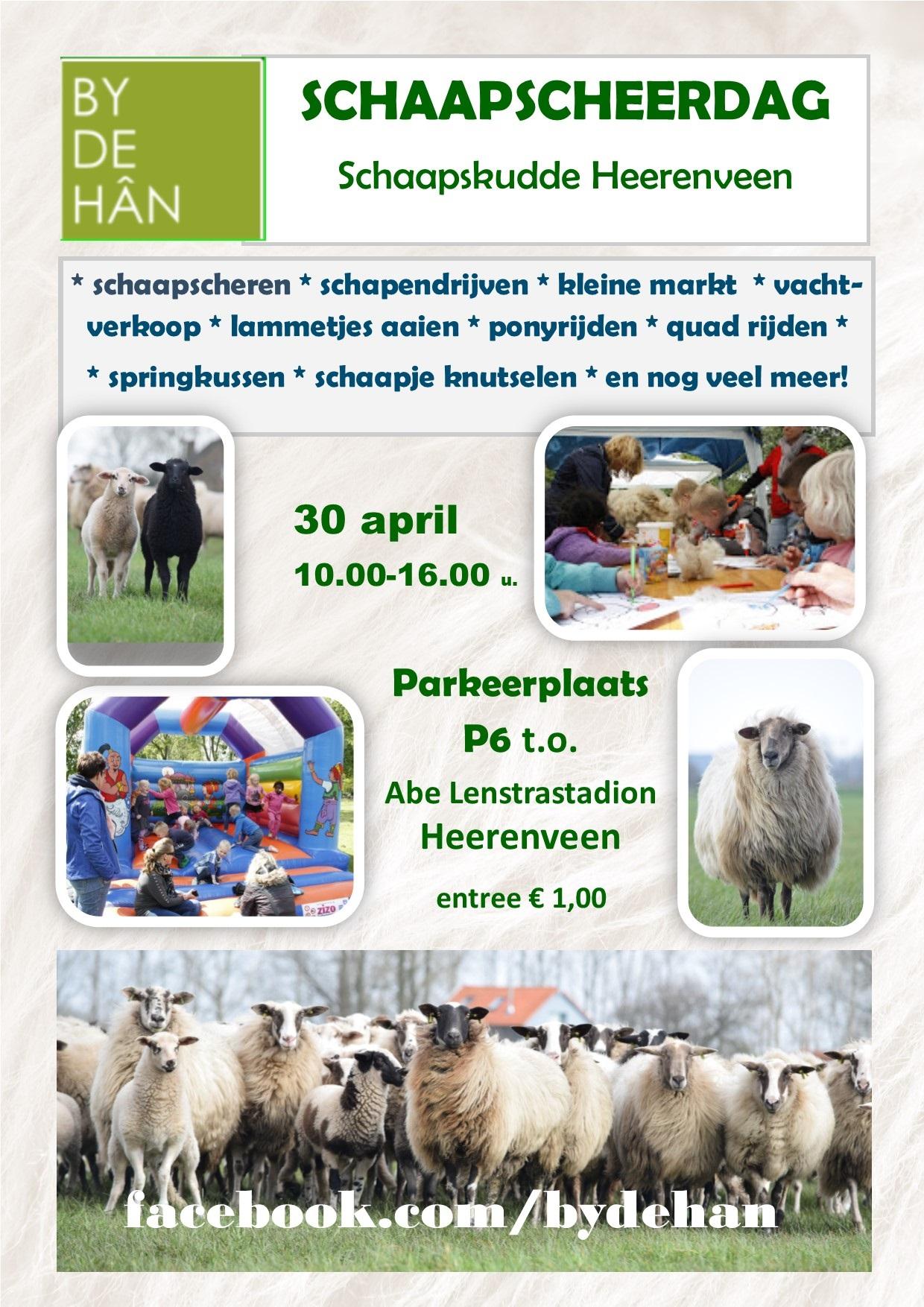 Flyer schaapscheerdag Heerenveen 30 april 2016